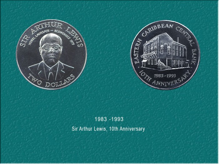 10th Anniversary of the ECCB coin (Cupro Nickel): $10.00
