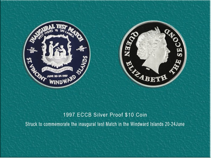 Inaugural Test Match in St Vincent and the Grenadines Coin: $125.00